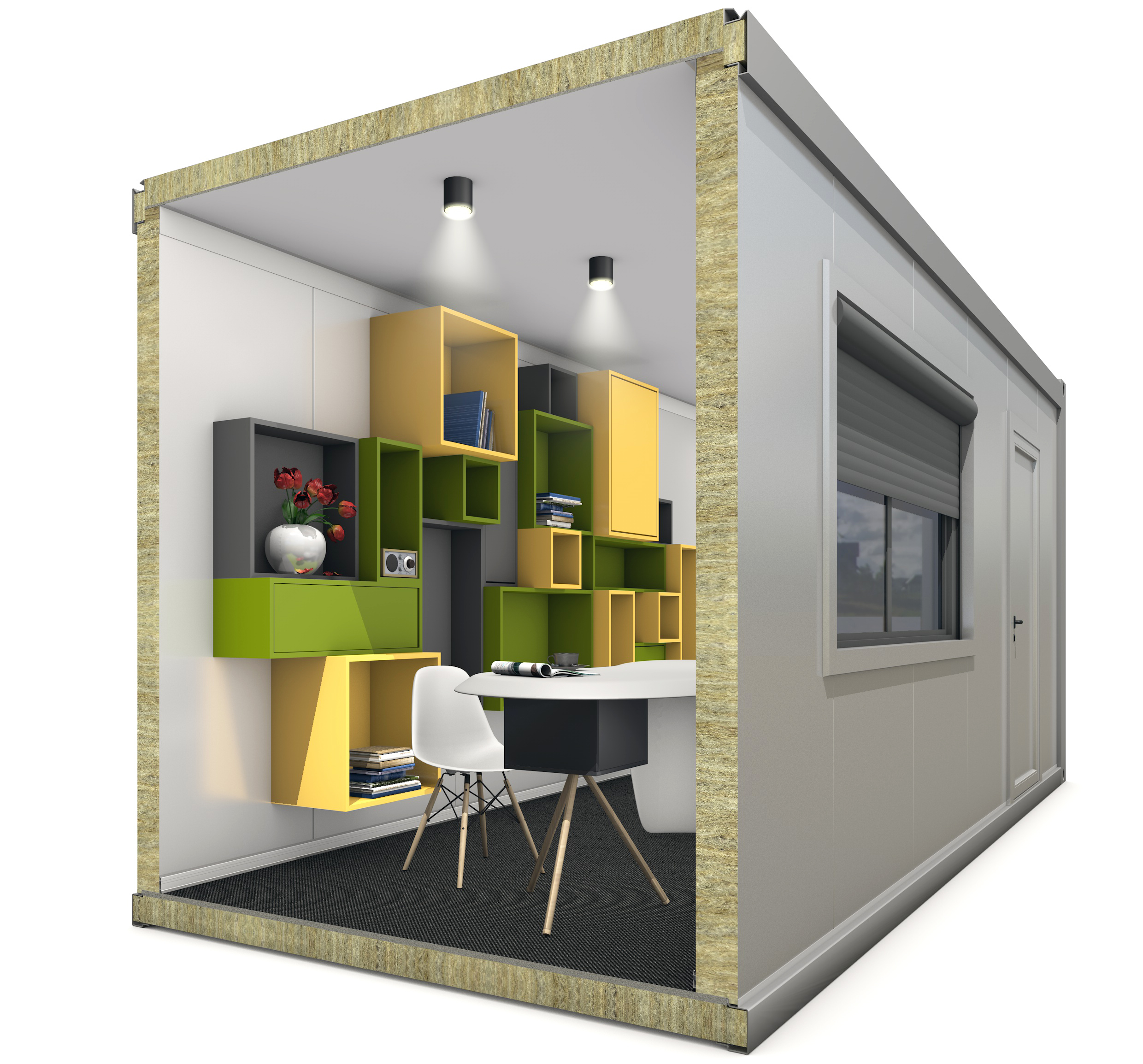 Prefab modular units build from high-quality materials
